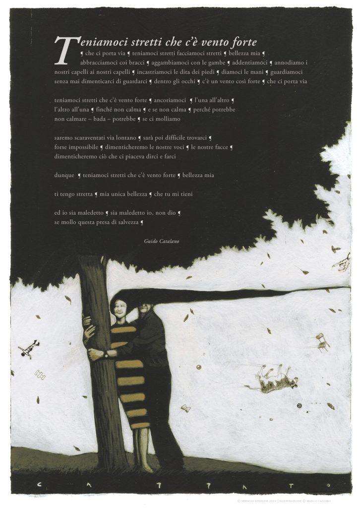 abbastanza Poster poesia di Guido Catalano Illustr. Marco Cazzato | Miraggi  II34