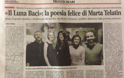 «Il Luna Baci»: la poesia felice di Marta Telatin (recensione su Montichiari)