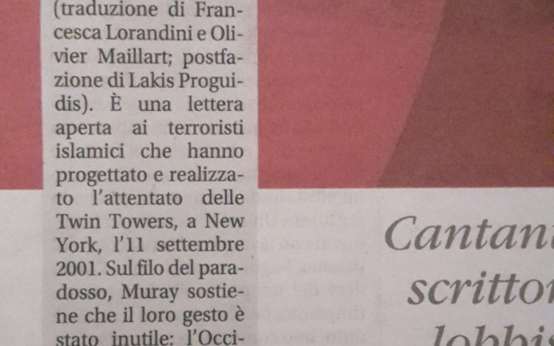 Cari jihadisti… La recensione di Alessandro Gnocchi su il Giornale