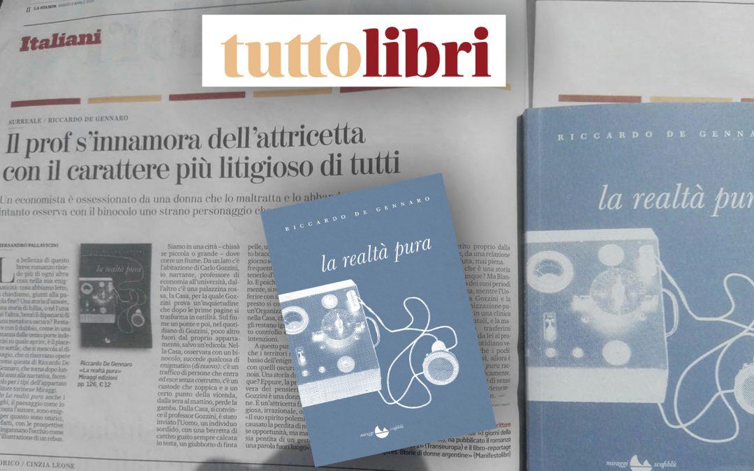 Il prof s'innamora dell'attricetta con il carattere più litigioso di tutti – di Piersandro Pallavicini su TUTTOLIBRI La Stampa