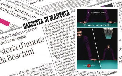 L'AMORE PUZZA D'ODIO – recensione di Vincenzo Corrado su La Gazzetta di Mantova