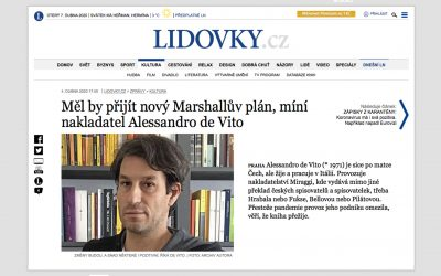 Intervista a Alessandro De Vito su «Lidové Noviny», giovedì 2 aprile 2020