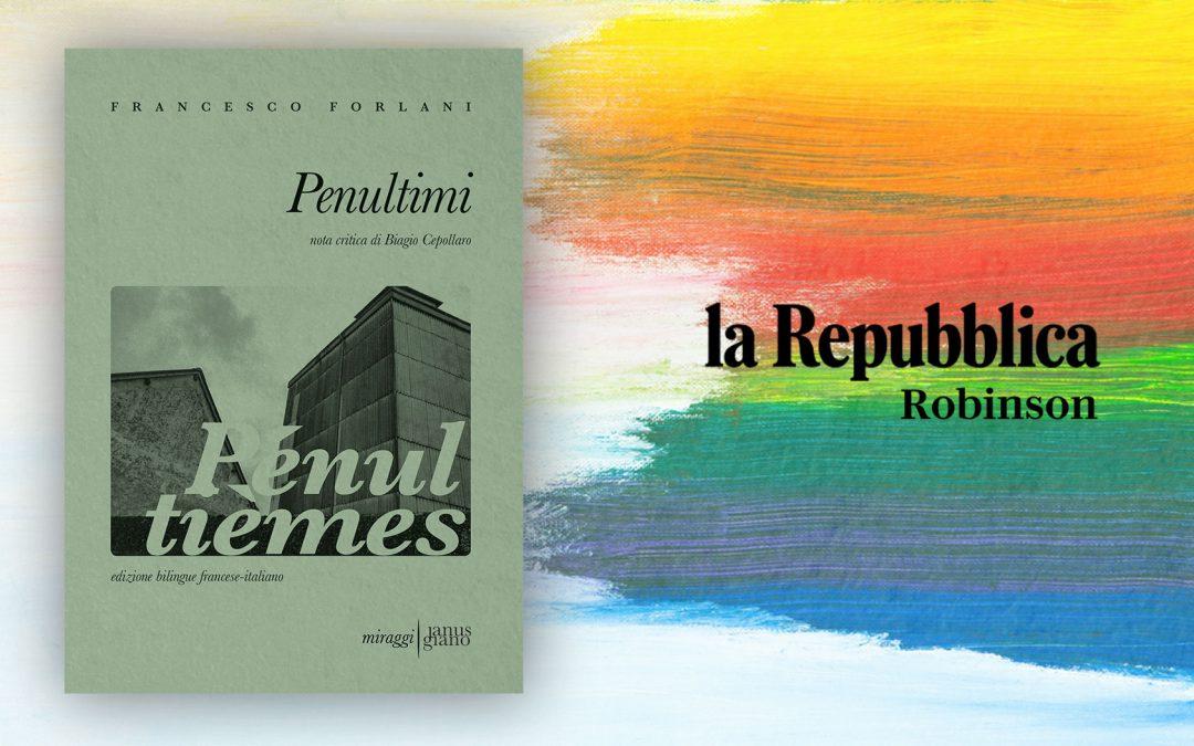 PENULTIMI – recensione di Maria Anna Patti su Repubblica