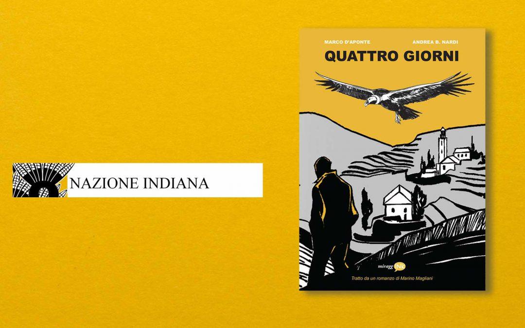 QUATTRO GIORNI – recensione di Giacomo Sartori su Nazione Indiana