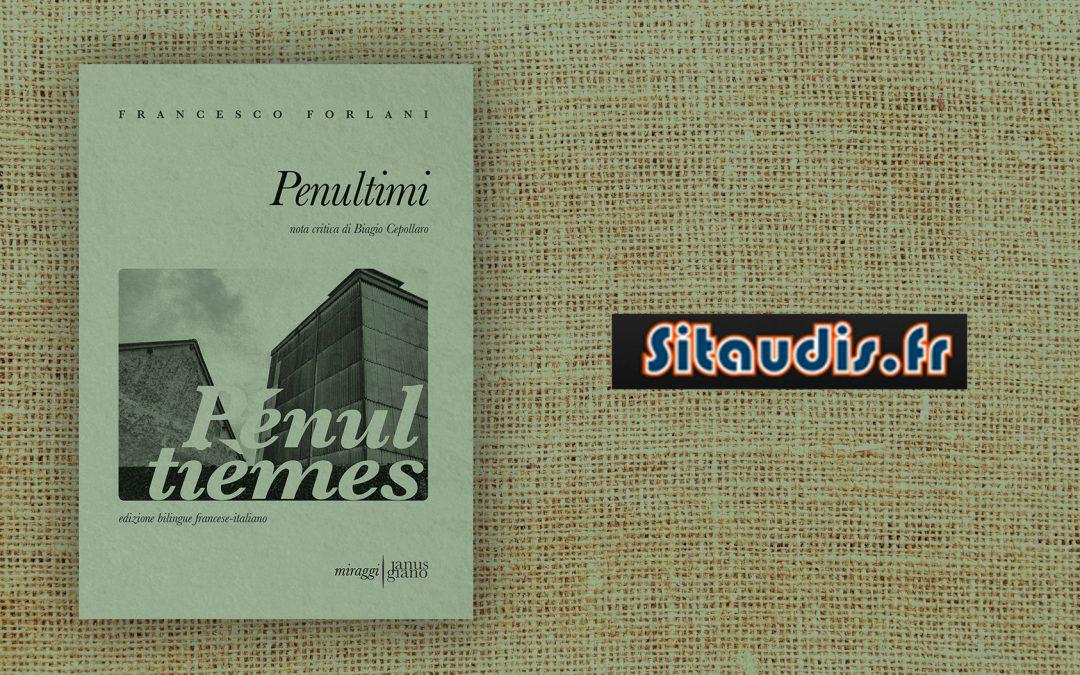 PENULTIMI – recensione di Jean-Charles Vegliante su Sitaudis.fr