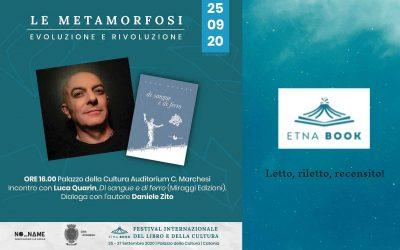 LUCA QUARIN ospite a Etnabook, Festival Internazionale del libro e della Cultura