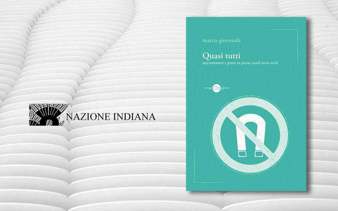 QUASI TUTTI –  recensione di Gianluca Garrapa su Nazione Indiana