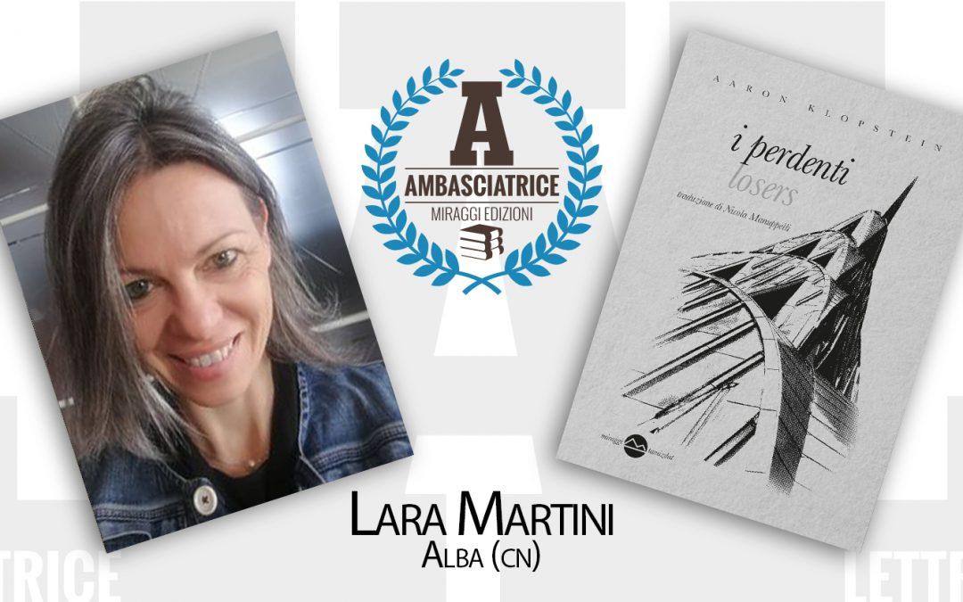 La lettrice Ambasciatrice Lara Martini e la sua onirica lettura de I PERDENTI di Aaron Klopstein
