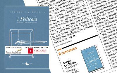 I Pellicani – recensione di Gabriella Crema su La Repubblica