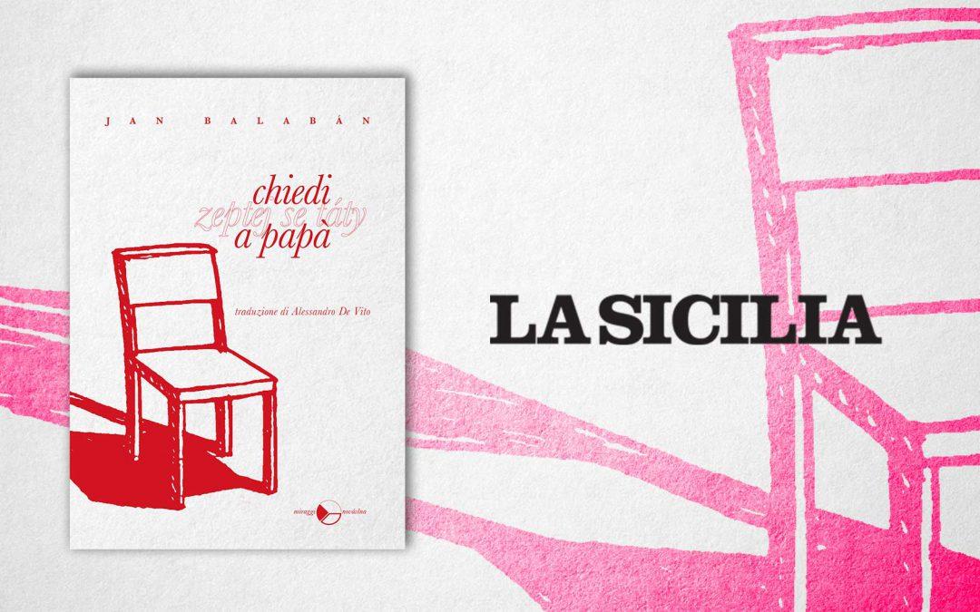 Chiedi a papà – recensione di Lorenzo Marotta su La Sicilia
