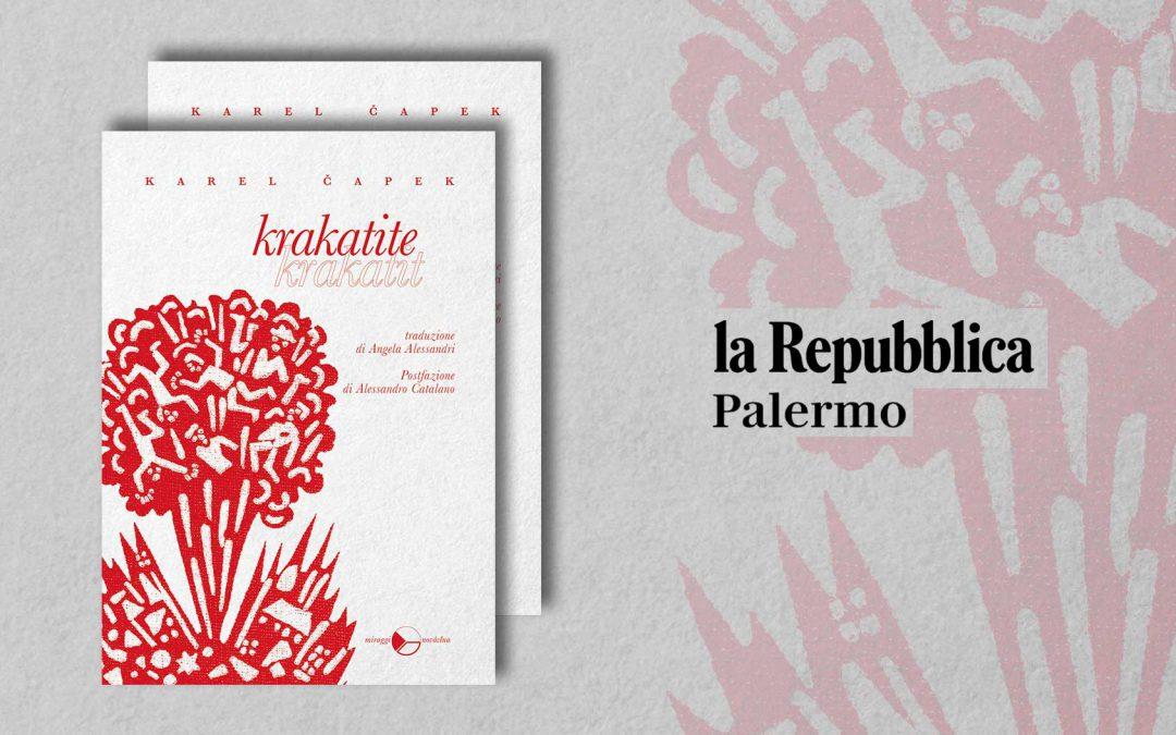Krakatite – recensione di Angelo Di Liberto su La Repubblica (I consigli di Billy)
